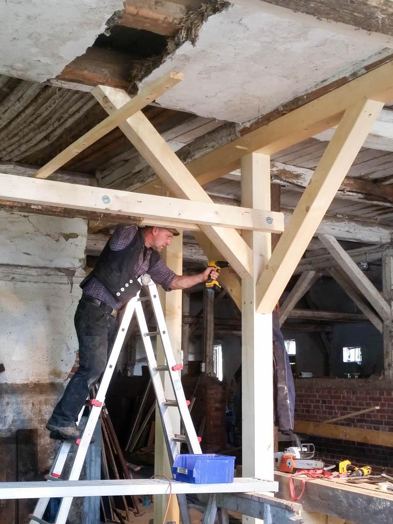 Sanierung-Fachwerk-Zimmerei Arne Jacob